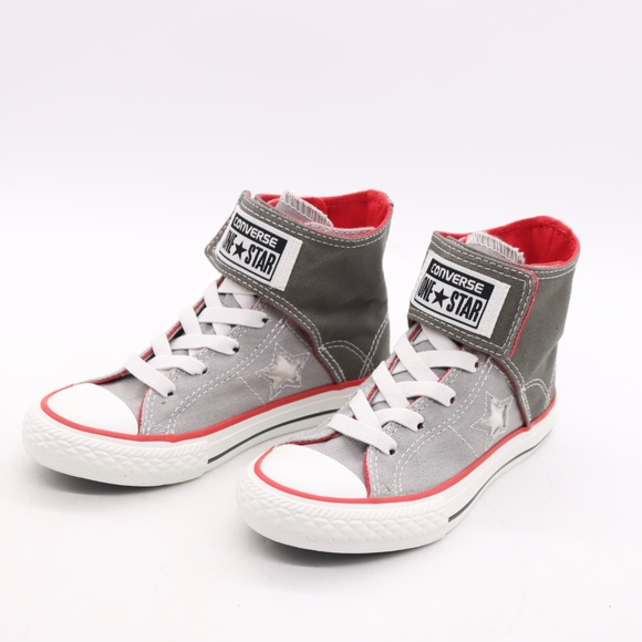 Ct One Star High Top Sneakers Grey Red